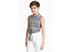 Блуза H&M 146см черно белый 3555273