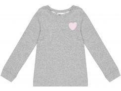 Лонгслив для сна H&M 92см серый сердца 96237658