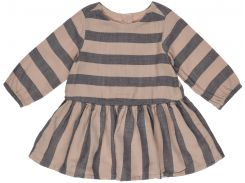 Платье H&M 56см коричневый полоска 96350438