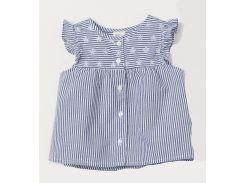 Блуза H&M 74см бело синий полоска 6940459