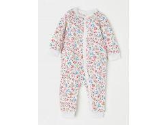 Пижама H&M 62см белый цветы 657434