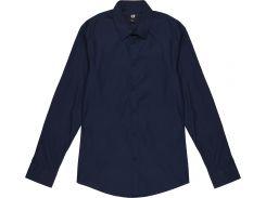 Рубашка H&M S темно синий 6736398