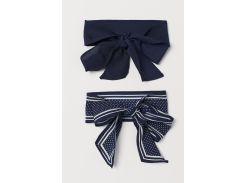 Повязка (2 шт) H&M One Size темно синий горох 695166