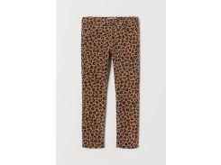 Треггинсы H&M 98см темно бежевый леопард 7966710