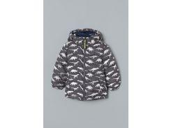Куртка H&M 134см серый динозавры 6251960