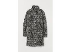 Пальто H&M L черный леопард 9108099770