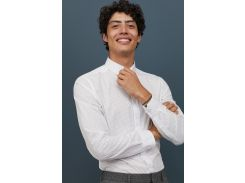 Рубашка H&M XXL белый горох 5016167
