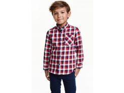 Рубашка H&M 116см комбинированный клетка 10123838834