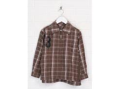 Рубашка playful 116 122см светло коричневый 301