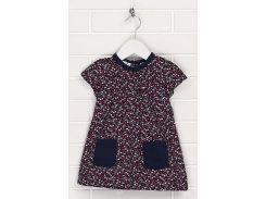 Платье H&M 74см темно синий вишня 260120266092