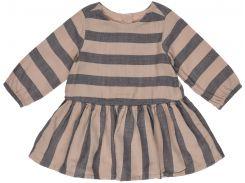 Платье H&M 104см коричневый полоска 96350438