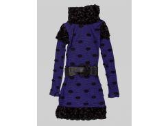 Платье Marions 146см сине черный 7356