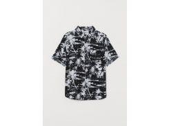 Рубашка H&M 134см черно белый 21058595792