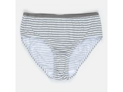 Трусики H&M 134 140см бело серый полоска 170362521602