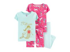 Пижама (2 футболки, шорты, лосины) Carter's 3 года (93 99см) розовый, мятный 38110