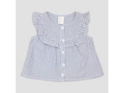 Блуза H&M 68см бело синий полоска 5742827