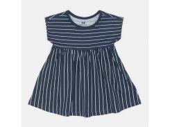 Платье H&M 74см темно синий полоска 2544577