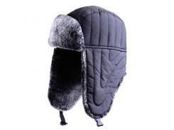 Зимняя шапка нейлон Flagman черная