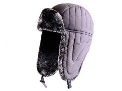 Зимняя шапка нейлон Flagman коричневая