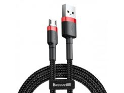 Baseus Cafule Cable USB to micro USB 0.5m 2.4A Data/Charge (CAMKLF-A91) Black/Red