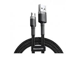 Baseus Cafule Cable USB to micro USB 0.5m 2.4A Data/Charge (CAMKLF-AG1) Black/Grey