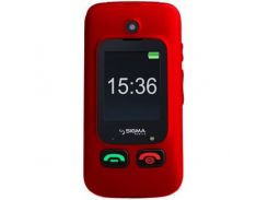 Sigma mobile Comfort 50 Shell Duo Sim (4827798212325) Black-Red