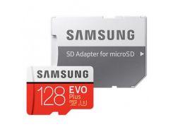 Samsung microSDXC EVO Plus 128GB UHS-I U3 Class 10 (с адаптером) (MB-MC128GA/RU)