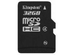 Kingston microSDHC 32GB Class 4 (без адаптера) (SDC4/32GBSP)