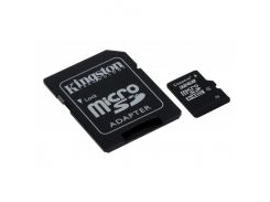 Kingston microSDHC 32GB Class 4 (с адаптером) (SDC4/32GB)