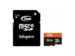 Team microSDHC 32GB Class 10 UHS-I (с адаптером) (TUSDH32GUHS03)
