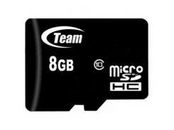 Team microSDHC 8GB Class 10 (без адаптера) (TUSDH8GCL1002)