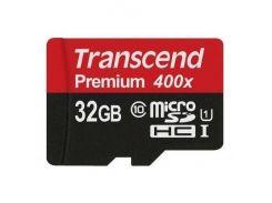 Transcend microSDHC 32GB Class 10 UHS-I Premium 400X (без адаптера) (TS32GUSDCU1)
