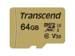 Transcend microSDXC 64GB Class 10 UHS-I (с адаптером) (TS64GUSD500S)