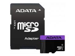 ADATA microSDHC Premier 16GB Class 10 UHS-I (с адаптером) (AUSDH16GUICL10-RA1)