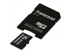 Transcend microSDXC 64GB Class 10 UHS-I R45MB/s (с адаптером) (TS64GUSDXC10)
