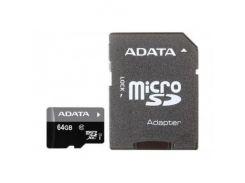 A-Data microSDXC UHS-I 64 GB Class 10 (с адаптером) (AUSDX64GUICL10-RA1)
