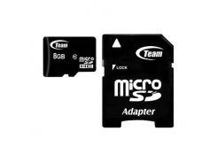 Team microSDHC 8GB Class 10 (с адаптером) (TUSDH8GCL1003)