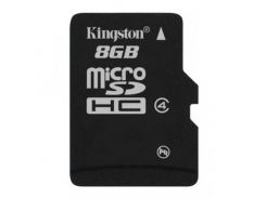 Kingston microSDHC 8GB Class 4 (без адаптера) (SDC4/8GBSP)