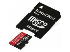 Transcend microSDXC 64GB Class 10 UHS-I Premium 300X (с адаптером) (TS64GUSDU1)