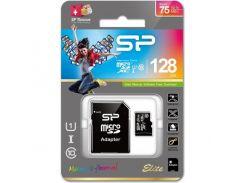 Silicon Power microSDXC 128GB Class 10 UHS-I Elite (с адаптером) (SP128GBSTXBU1V10-SP)