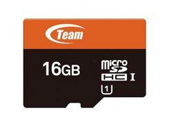 Team microSDHC 16GВ Сlass 10 UHS-1 (с адаптером) (TUSDH16GUHS03)