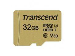 Transcend microSDHC 32GB Class 10 UHS-I (с адаптером) (TS32GUSD500S)