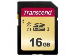 Transcend SDHC 500S 16GB Class 10 UHS-I (без адаптера) (TS16GSDC500S)
