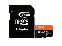 Team microSDXC 128GB Class 10 UHS-I (с адаптером) (TUSDX128GUHS03)
