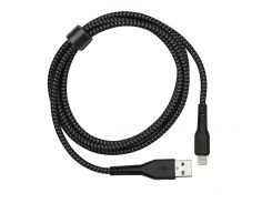 Kабель Energea Fibratough USB - Lightning 1,5M MFI (Black) 6957879461200