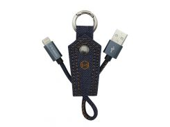 Кабель-брелок McDodo USB - Lightning 0.15m (Blue) CA-0740