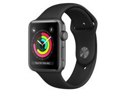 Смарт-часы Apple Watch Series 3 42mm Space Gray Aluminum Case with Black Sport Band (MQL12FS/A)