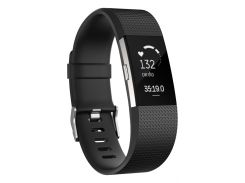 Фитнес-трекер Fitbit Charge HR 2 L (Black /Silver)