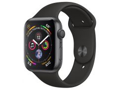 Apple Watch Series 4 40mm Space Gray Aluminum Case with Black Sport Band MU662