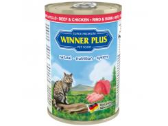 Консервы с говядиной и курицей Winner Plus Super Premium Cat 395 г (100048-2)